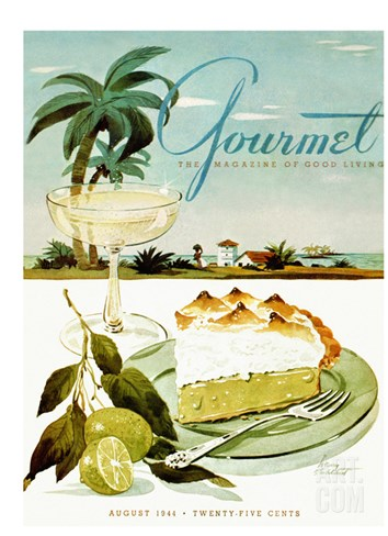 Gourmet Cover - August 1944 Stretched Canvas Print