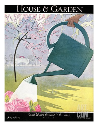 House & Garden Cover - July 1925 Stretched Canvas Print