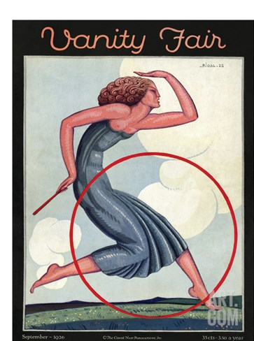 Vanity Fair Cover - September 1926 Stretched Canvas Print