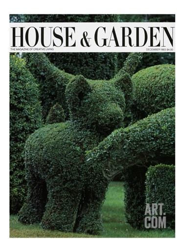 House & Garden Cover - December 1983 Stretched Canvas Print