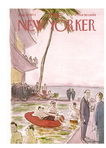 The New Yorker Cover - August 19, 1972 Stretched Canvas Print