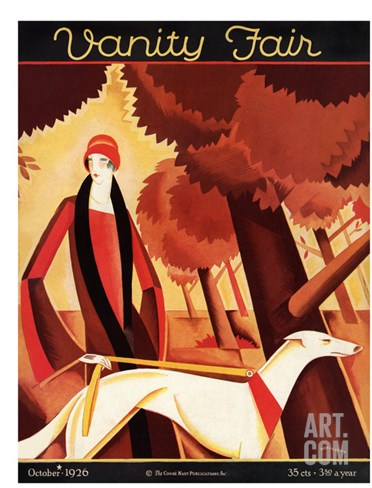 Vanity Fair Cover - October 1926 Stretched Canvas Print