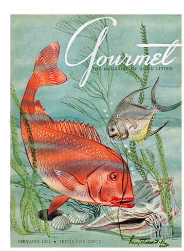 Gourmet Cover - February 1951 Stretched Canvas Print