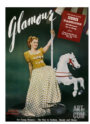 Glamour Cover - May 1941 Stretched Canvas Print