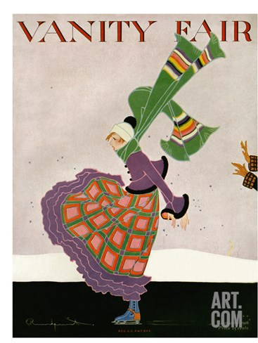 Vanity Fair Cover - January 1916 Stretched Canvas Print