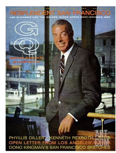 GQ Cover - October 1965 Stretched Canvas Print