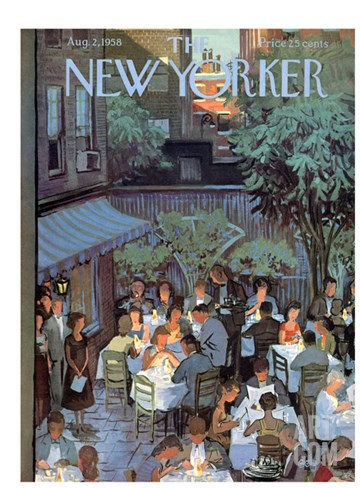 The New Yorker Cover - August 2, 1958 Stretched Canvas Print