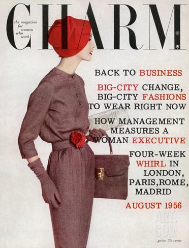 Charm Cover - August 1956 Stretched Canvas Print