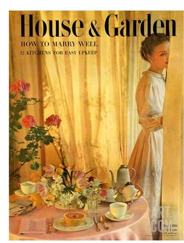 House & Garden Cover - May 1950 Stretched Canvas Print