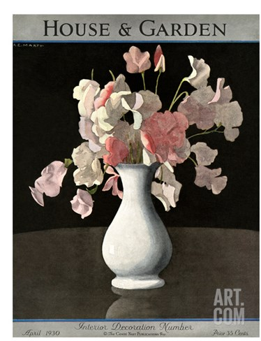House & Garden Cover - April 1930 Stretched Canvas Print