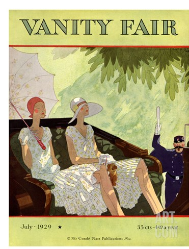 Vanity Fair Cover - July 1929 Stretched Canvas Print