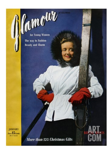 Glamour Cover - January 1941 Stretched Canvas Print