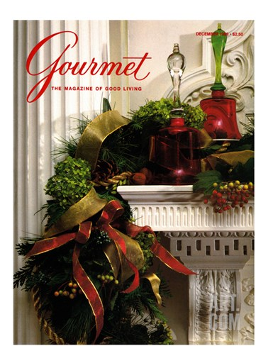 Gourmet Cover - December 1989 Stretched Canvas Print