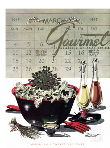 Gourmet Cover - March 1945 Stretched Canvas Print