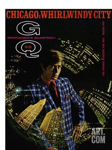 GQ Cover - March 1969 Stretched Canvas Print