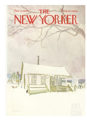 The New Yorker Cover - February 15, 1969 Stretched Canvas Print