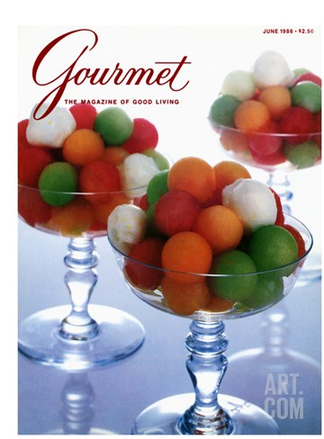 Gourmet Cover - June 1986 Stretched Canvas Print