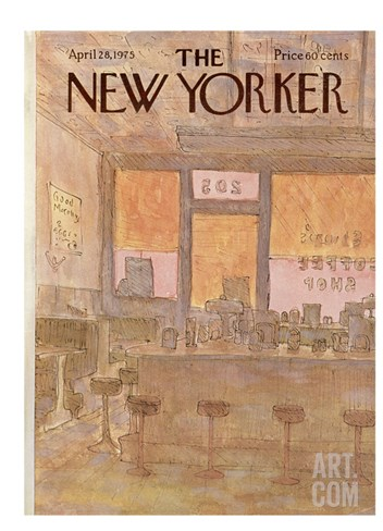 The New Yorker Cover - April 28, 1975 Stretched Canvas Print