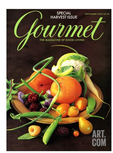 Gourmet Cover - September 2000 Stretched Canvas Print