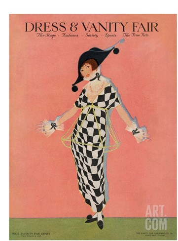 Vanity Fair Cover - November 1913 Stretched Canvas Print