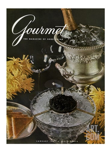 Gourmet Cover - January 1961 Stretched Canvas Print