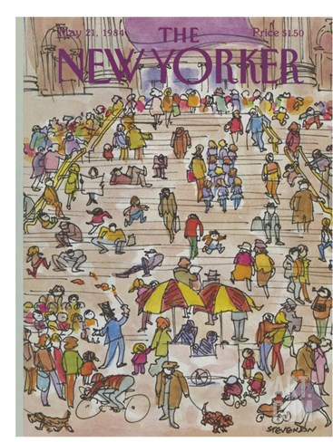 The New Yorker Cover - May 21, 1984 Stretched Canvas Print