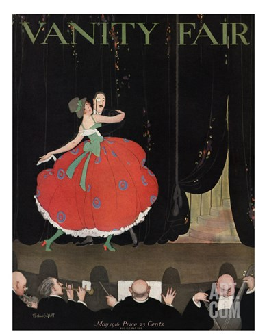 Vanity Fair Cover - May 1916 Stretched Canvas Print