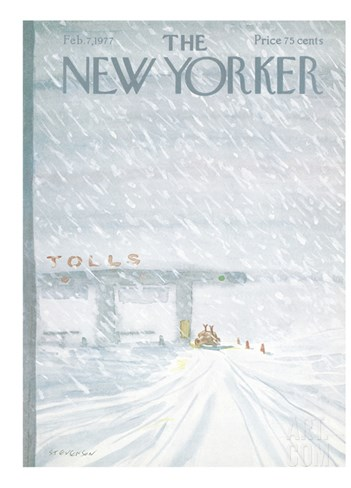 The New Yorker Cover - February 7, 1977 Stretched Canvas Print