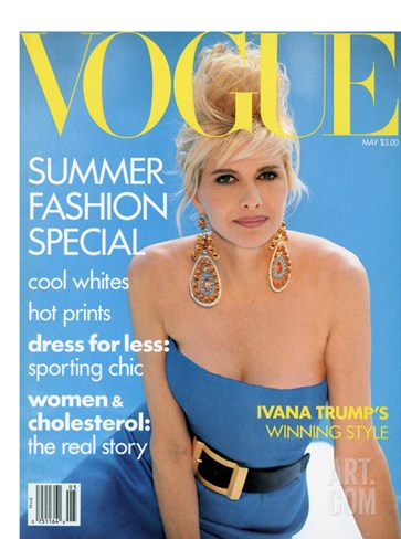 Vogue Cover - May 1990 Stretched Canvas Print