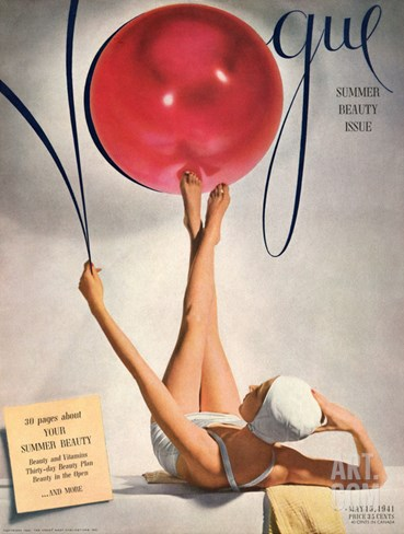 Vogue Cover - May 1941 Stretched Canvas Print