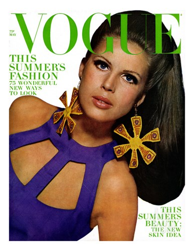Vogue Cover - May 1966 Stretched Canvas Print
