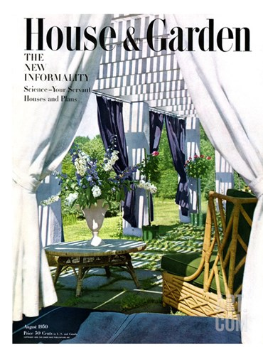 House & Garden Cover - August 1950 Stretched Canvas Print