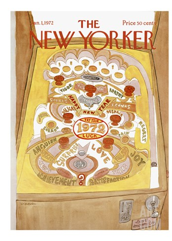 The New Yorker Cover - January 1, 1972 Stretched Canvas Print