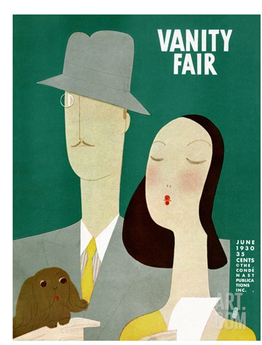 Vanity Fair Cover - June 1930 Stretched Canvas Print
