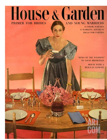 House & Garden Cover - May 1951 Stretched Canvas Print