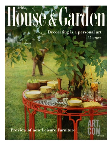 House & Garden Cover - April 1957 Stretched Canvas Print