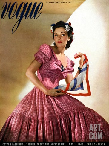 Vogue Cover - May 1940 Stretched Canvas Print