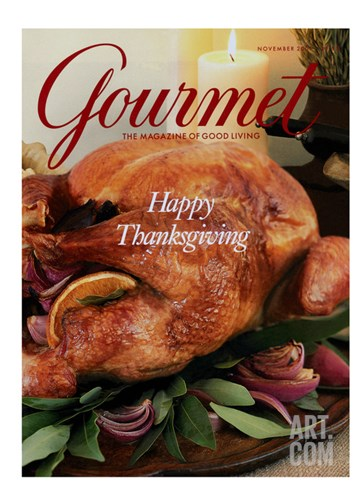 Gourmet Cover - November 2001 Stretched Canvas Print
