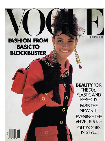 Vogue Cover - October 1989 Stretched Canvas Print