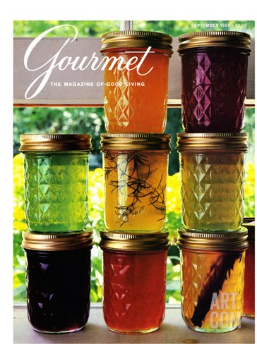 Gourmet Cover - September 1985 Stretched Canvas Print