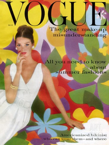 Vogue Cover - May 1959 Stretched Canvas Print