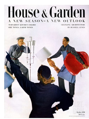 House & Garden Cover - October 1951 Stretched Canvas Print