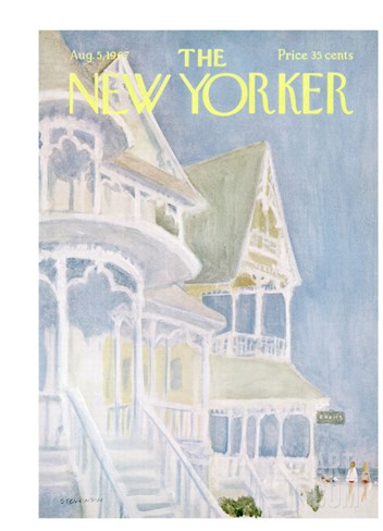 The New Yorker Cover - August 5, 1967 Stretched Canvas Print
