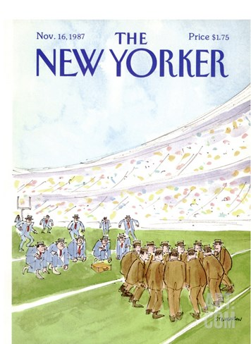 The New Yorker Cover - November 16, 1987 Stretched Canvas Print