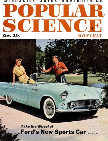 Front cover of Popular Science Magazine: October 1, 1950 Stretched Canvas Print