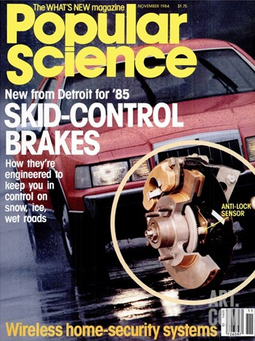 Front cover of Popular Science Magazine: November 1, 1984 Stretched Canvas Print