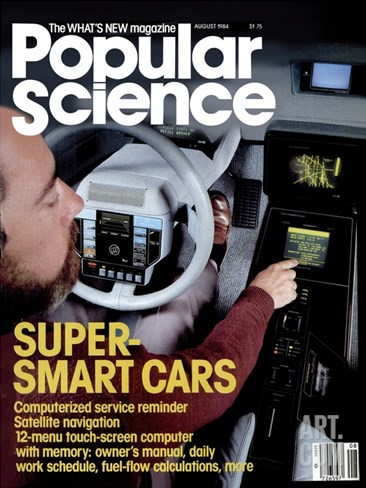 Front cover of Popular Science Magazine: August 1, 1984 Stretched Canvas Print