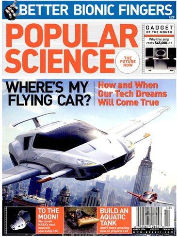 Front cover of Popular Science Magazine: March 1, 2006 Stretched Canvas Print