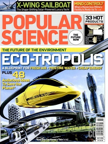 Front cover of Popular Science Magazine: July 1, 2008 Stretched Canvas Print