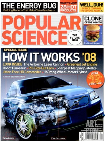 Front cover of Popular Science Magazine: April 1, 2008 Stretched Canvas Print